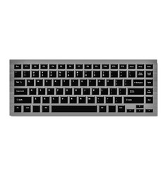black keyboard for laptop or computer on checkered vector image vector image