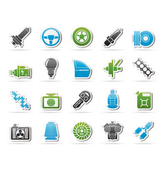 car part and services icons 1 vector image