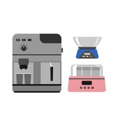 coffee maker machine caffeine modern drink kitchen vector image