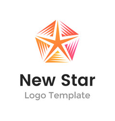 colorful new star logo design template modern vector image vector image