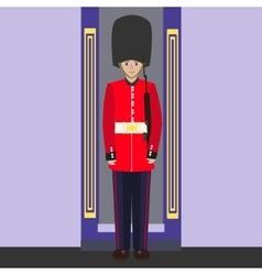 English guard cartoon vector