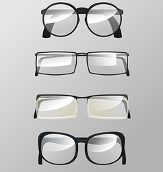 Eye Glasses Graphic Design Set vector image