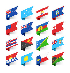 Flags of the world oceania vector