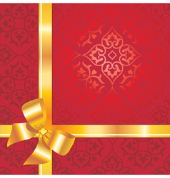 gift background with bow and r vector image vector image