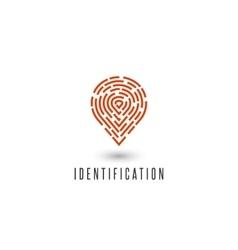 Identification personal fingerprint creative idea vector
