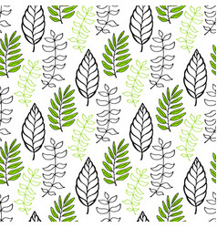 leaves seamless pattern seasonal background can vector image vector image