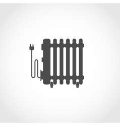 Oil heater icon vector image vector image