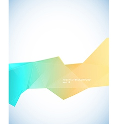Paper template with blue orange abstract stripe vector