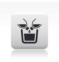 pour icon vector image