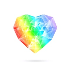 Rainbow stone heart vector image