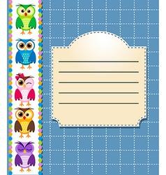 school owls vector image