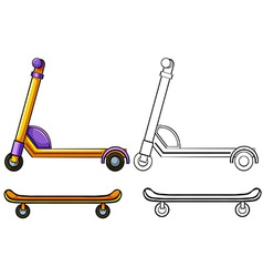 Scooter and skateboard vector image vector image