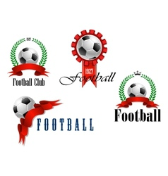 Set of football or soccer emblems vector image