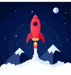 Space rocket poster vector