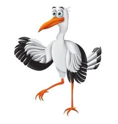 Stork funny cartoon character vector image