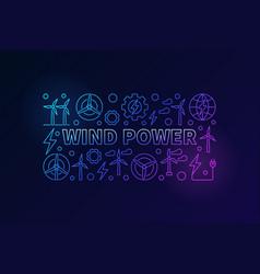 Wind power banner vector