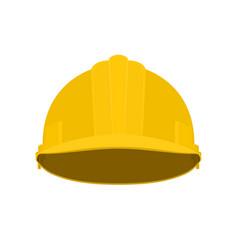 Yellow working safety helmet vector