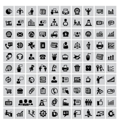 100 business web icons vector image vector image