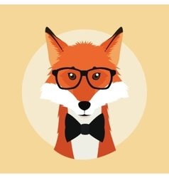 Fox animal hipster style vector image
