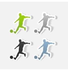 realistic design element soccer player vector image
