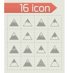 Mountains icon set vector image