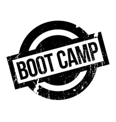 boot camp rubber stamp vector image