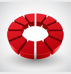 abstract red circle vector image