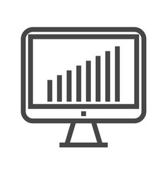 Monitor thin line icon vector