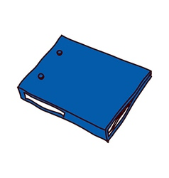 A file folder is placed vector