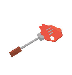 beef meat fork food picnic vector image