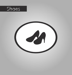 black and white style icon women high heel shoes vector image