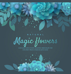 Bright floral arrangement for the invitation vector