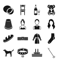 Hook interior drink and other web icon in black vector