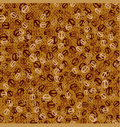 Background with coffee beans coffee seamless vector