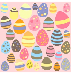 Easter pink seamless texture with eggs vector