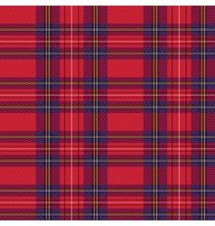 Rectangular tartan red fabric seamless texture vector