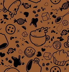 Endless coffee pattern vector