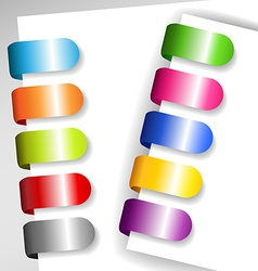 Set of metallic paper tags vector