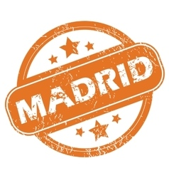 Madrid round stamp vector