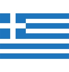 Flag of greece vector