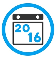 2016 organizer icon vector