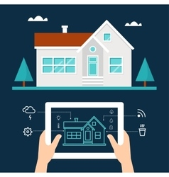 Smart home technology and tab application vector