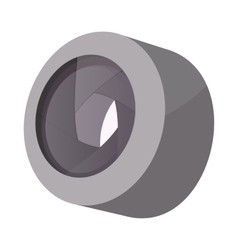 Camera lens icon cartoon style vector
