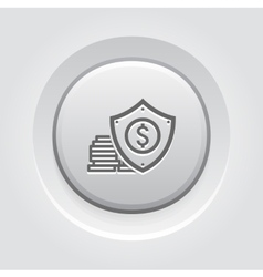Money protection icon vector
