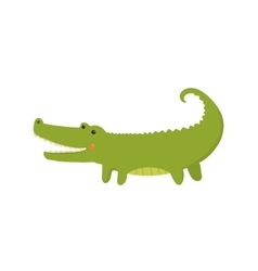 Crocodile realistic childish vector