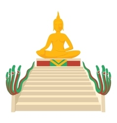 Budda icon cartoon style vector