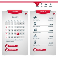 calendar and icons vector image
