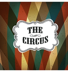circus background retro colorful vector image vector image
