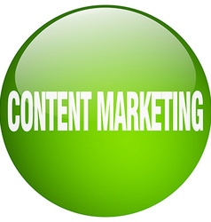 Content marketing green round gel isolated push vector