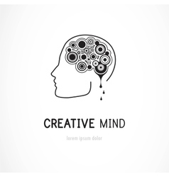 Creative mind - business logo template vector image